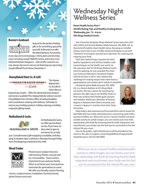 Beachwood Buzz Magazine - December 2015 Page 41
